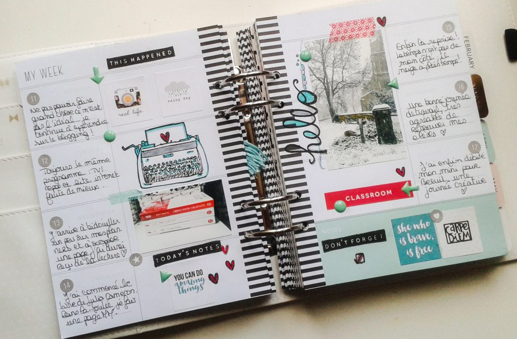 double-page mémory planner