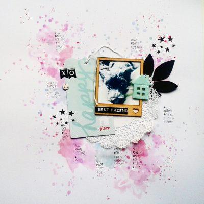 un peu de patouille à l aquarelle : juste une page de scrap!