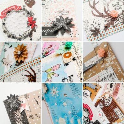 """Tuto cartes de voeux + offre spéciale atelier en ligne """"Petits plaisirs d'hiver"""""""
