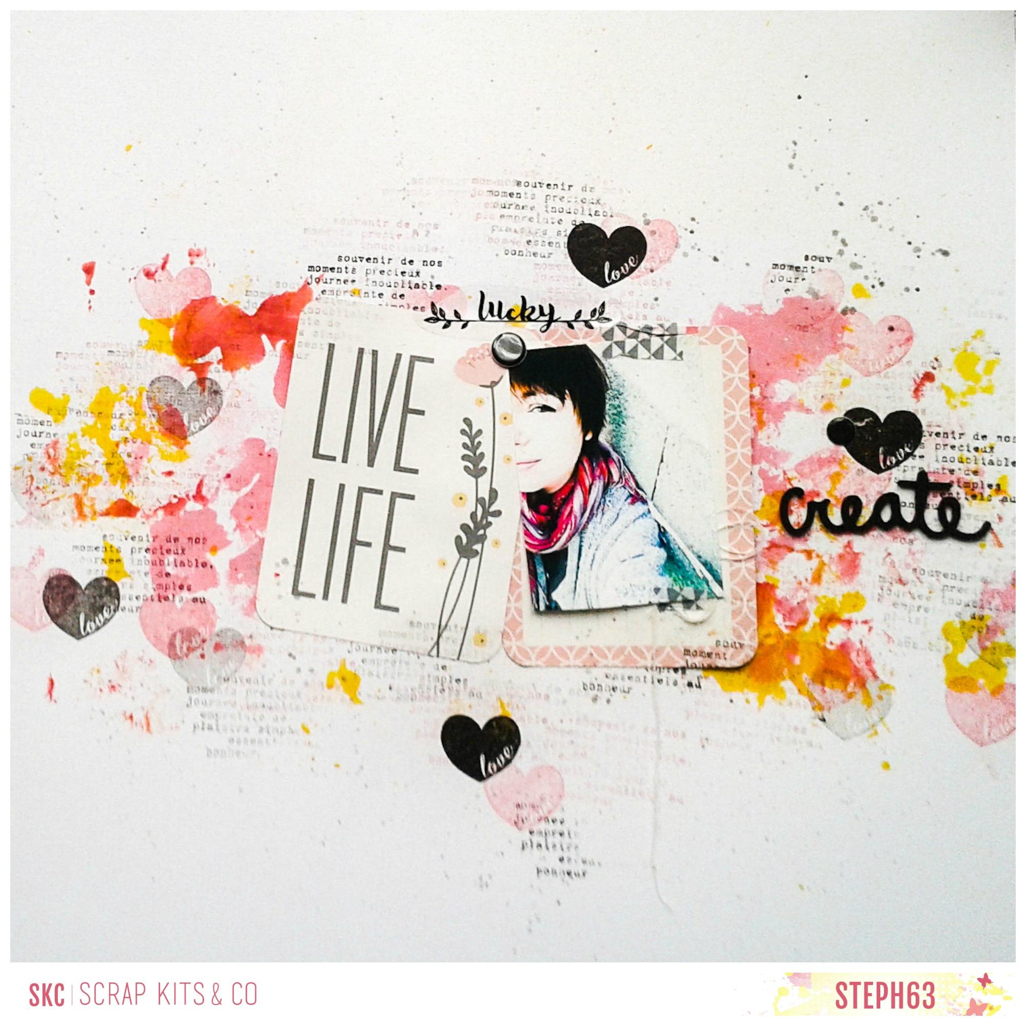 live, life, create
