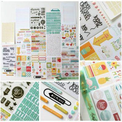 Une page avec le kit  planner de Scrap kits and co!
