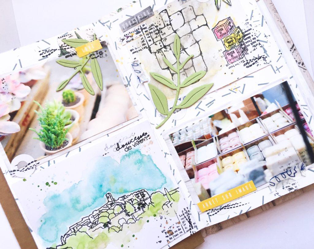 zoom sur mini album Provence