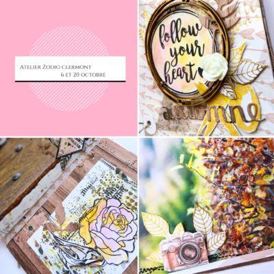 Atelier mini album Zôdio Clermont : projet d'octobre