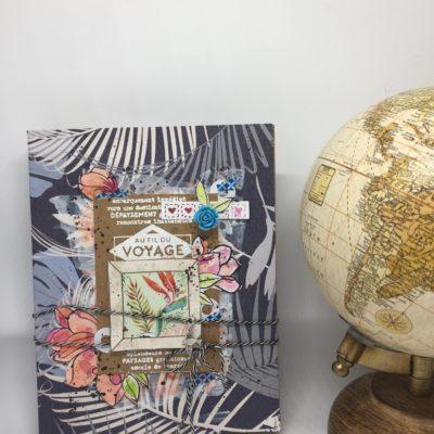 """Kit atelier mini album """"Au fil du voyage"""" en édition limitée"""