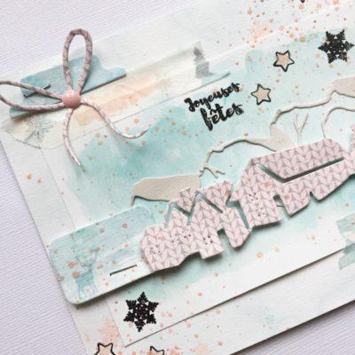 """Carte """"Joyeuses Fêtes """"pour Les jolies Créations"""