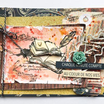 """Carte """"Chaque minute compte"""" pour Lorelaï Design"""