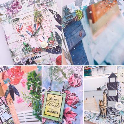 """Présentation atelier : mini album """"Douces Flâneries"""""""