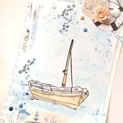 """Carte """"A la mer"""""""