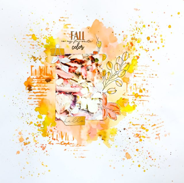 scrap couleurs automne