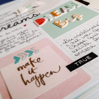 Memory planner février : première page et pochette photos!