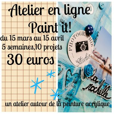 "Atelier en ligne ""Paint it""!"