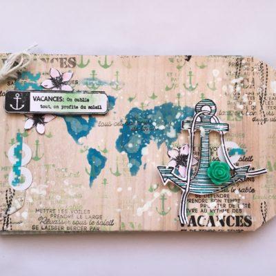 """atelier mini album """"Vacances"""" pour Zôdio Clermont Ferrand"""