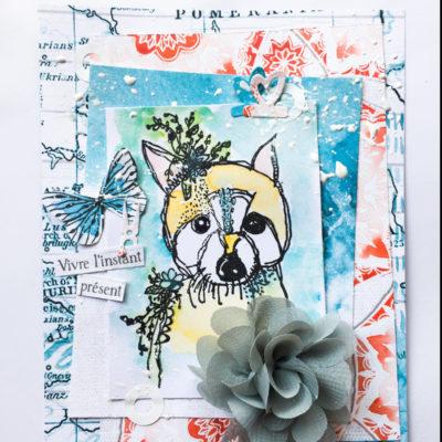 "Carte ""joli renard"""
